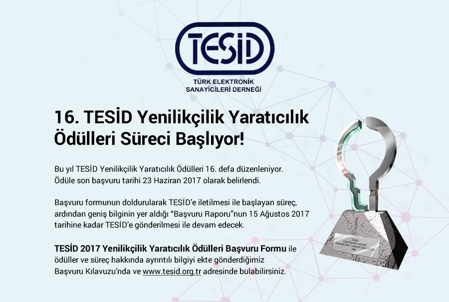 16. TESİD Yenilikçilik Yaratıcılık Ödülleri Süreci Başladı