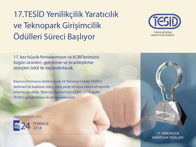 17. TESİD Yenilikçilik Yaratıcılık ve Teknopark Girişimcilik Ödülleri