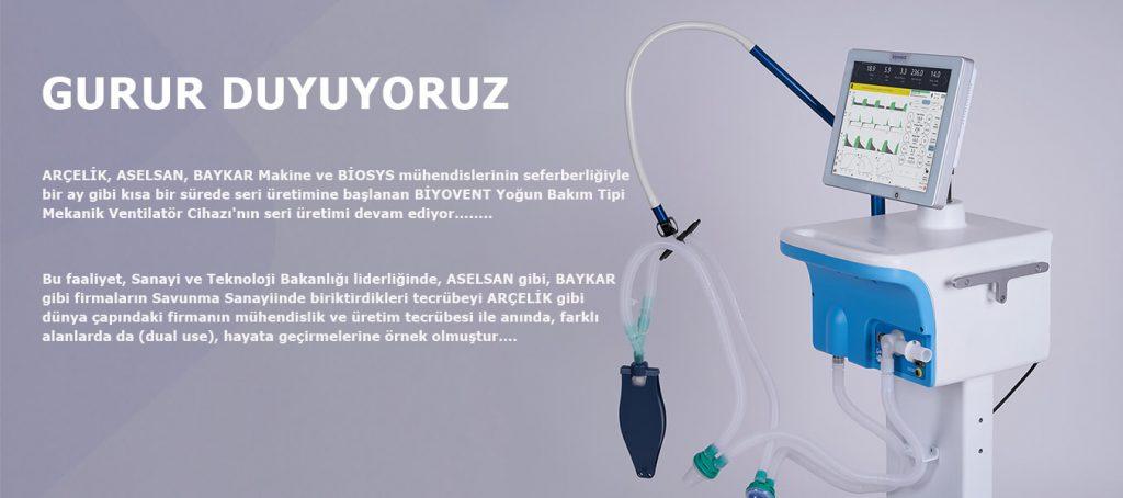 Biyovent Yoğun Bakım Tipi Mekanik Ventilatör Cihazı Seri Üretimi