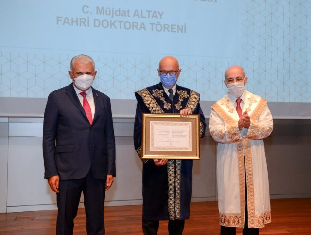 """İTÜ'den Yönetim Kurulu Başkanımız  Cemil Müjdat Altay'a """"Fahri Doktora"""""""