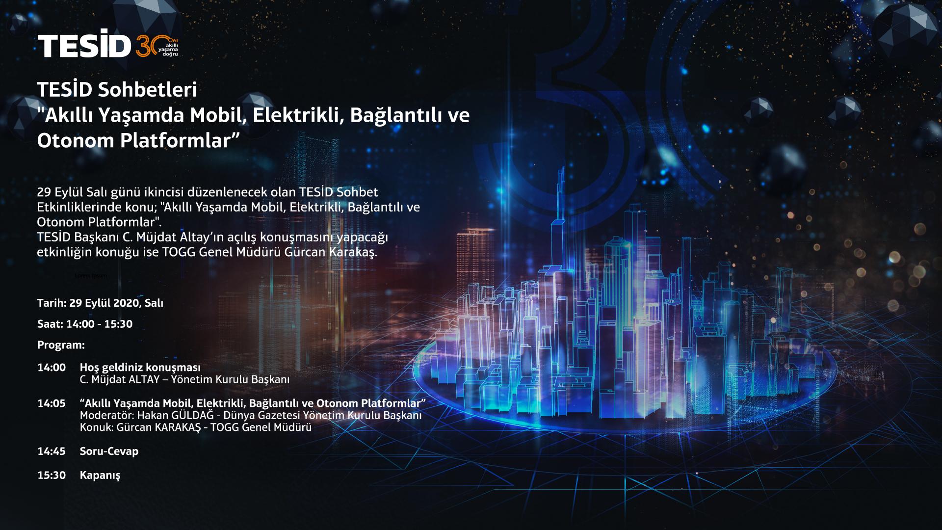 """TESİD Sohbetleri """"Akıllı Yaşamda Mobil, Elektrikli, Bağlantılı ve Otonom Platformlar"""""""
